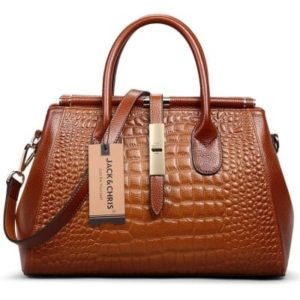 10. An embossed crocodile doctor bag for looking bougie on a budget.