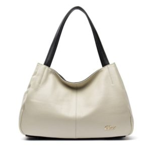 23. A soft and elegant shoulder bag with a zipper closure so everything stays secure.
