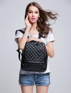 4. A quilted backpack for an attractive alternative to a purse.