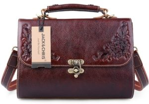 6. A vintage-style satchel with incredibly pretty details.