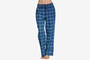 CYZ Women's 100% Cotton Super Soft Flannel Plaid Pajama Pants