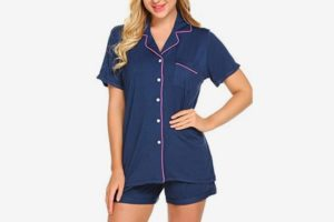 Ekouaer Pajamas Set Short Sleeve