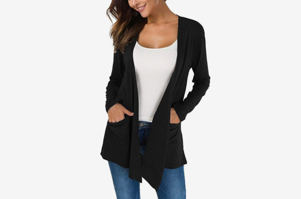 TownCat Women's Loose Casual Open Front Breathable Cardigans with Pocket