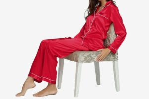 Womens Silk Satin Pajamas Set
